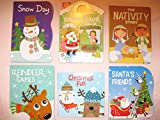 Six Christmas Board Books: Reindeer Games, Christmas Fun, Snow Day, Waiting for Santa Claus, The Nativity Story, Santa's Friends (c) 2017