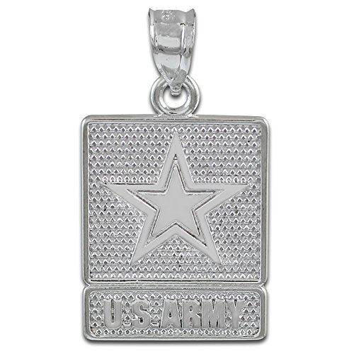 925 Argent Fin US ARMY-Pendentif