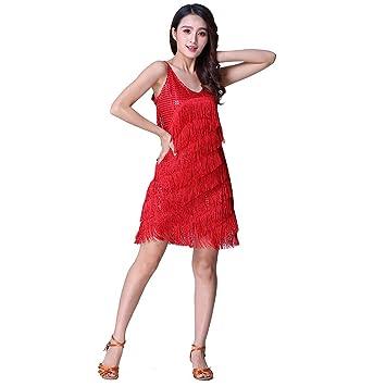 5ddb0a10d Vestidos de Baile Latino para Mujer, Traje de Baile de Lentejuelas ...