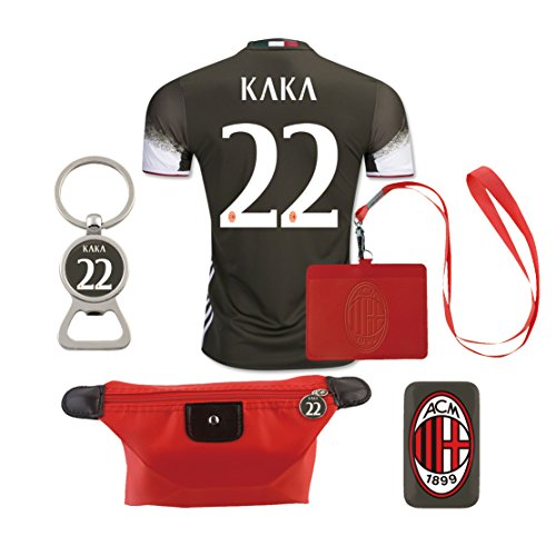 #22 Kaka (6 in 1 Combo) A.C. Milan 2nd Away Match Adult Soccer Jersey -