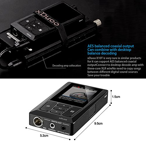 Docooler xDuoo X10T HiFi Music Player Digital Turntable Player High Resolution Lossless Audio Player WM8805 JZ4760B DSD APE FLAC w/ 2 inch Screen by Docooler (Image #6)