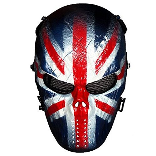 Skull Airsoft Wire Masks Full Face - Paintball Mask Metal Mesh Eye Protection BB Gun/CS Game/Tactical/Military - Outdoor Ghost Mask- Scary Skeleton Zombie Mask for Guy Fawkes Halloween (Knight -