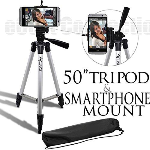 50 Inch Aluminum Camera Tripod + Universal Tripod Smartphone