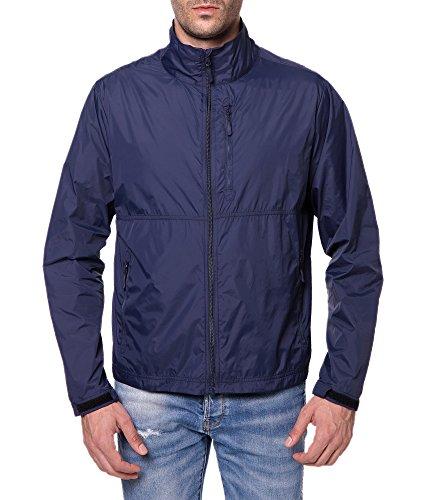 Trailside Supply Co. Men's Standard Water-Repellent Nylon Windbreaker Front-Zip up Jacket, Sapphire Blue, Large ()