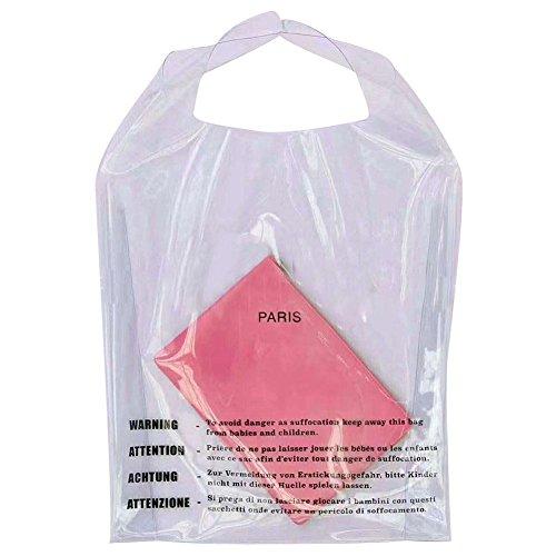Hifuture 2PCS shopping bag donna moda semplice lettere design Storage Bag borsa impermeabile in PVC trasparente nuoto spiaggia cosmetici borsa per lavoro sport e shopping