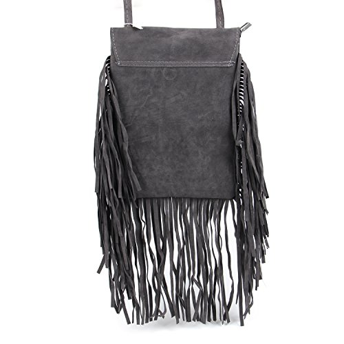with Crossbody Women��s Bag Decor Kuang Tassel Suede Bag Fringed Feather Shoulder Fashion WAqU0zBgT