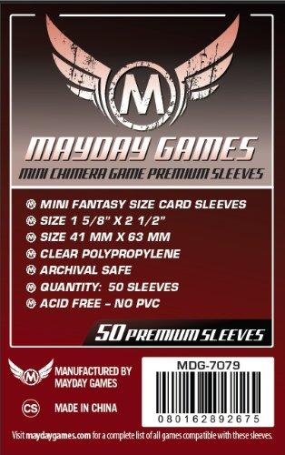 Premium Card Game Sleeves, Red
