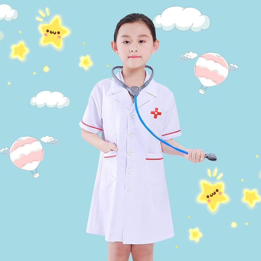 Motto.H - Disfraz infantil de doctor, camisa blanca de laboratorio para niño de calidad superior, disfraz médico de rol, para Navidad, Halloween, fiesta de carnaval: Amazon.es: Bebé