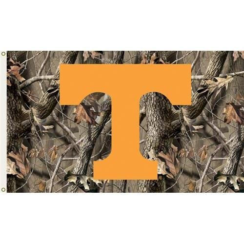 (BSI Collegiate/College / NCAA Tennessee Volunteers 3 Ft. x 5 Ft. Flag with Grommets - Realtree Camo Background)