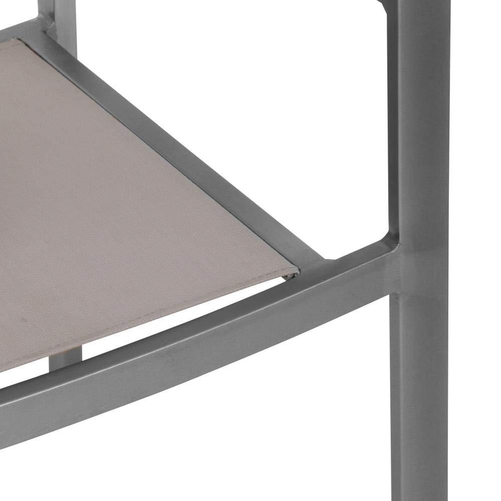 greemotion 129027 Alu Gartenstuhl Locarno in Beige-Braun-Stapelstuhl aus Aluminium f/ür Garten Balkon /& Terrasse-Gartensessel stapelbar mit Armlehne in Holz Design 6 x 6 x 8,5 cm