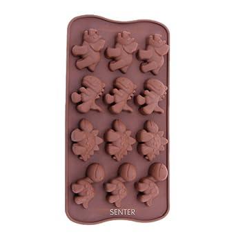Senter 12 Huecos Silicona Muffin Molde Forma De Muffin Dibujos