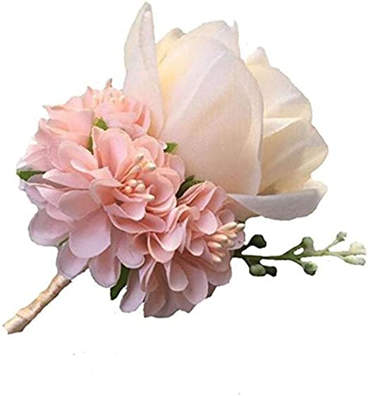 Buttonholes Wedding Flowers Groom Best man  Red// Pink// Purple Various colours