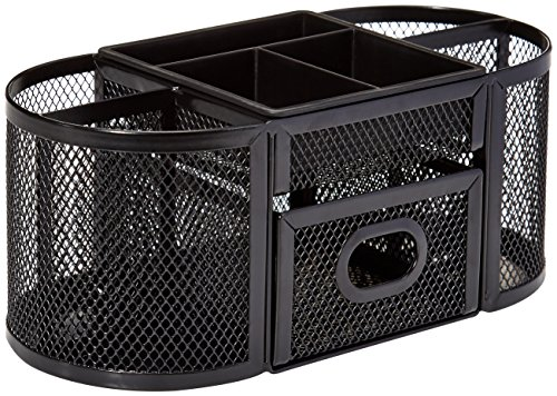 AmazonBasics Mesh Desk Organizer, Black Photo #1
