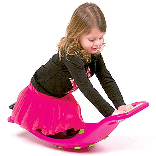 Fat Brain Toys Teeter Popper with Handles, Plastic Concave Balance Board for Children, Green by Fat Brain (Image #7)
