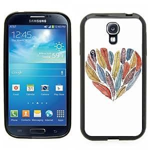 Samsung Galaxy S4 SIIII Black Rubber Silicone Case - Bird design, cute colorful Bird print, crafty by lolosakes