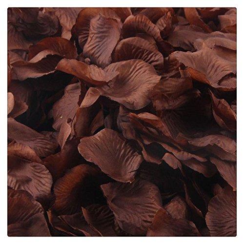 Artificial Flowers,FTXJ 1000pcs Silk Rose Artificial Petals Wedding Party Flower Favors Decorations (brown)