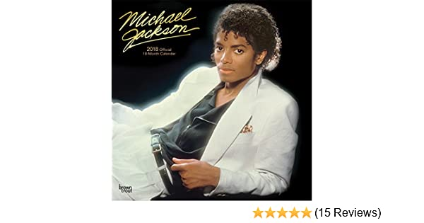 Michael Jackson 2018 12 x 12 Inch Monthly Square Wall Calendar with Foil Stamped Cover