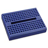 Pukido 10Pcs Blue 170 Holes Mini Solderless Prototype Breadboard For Arduino