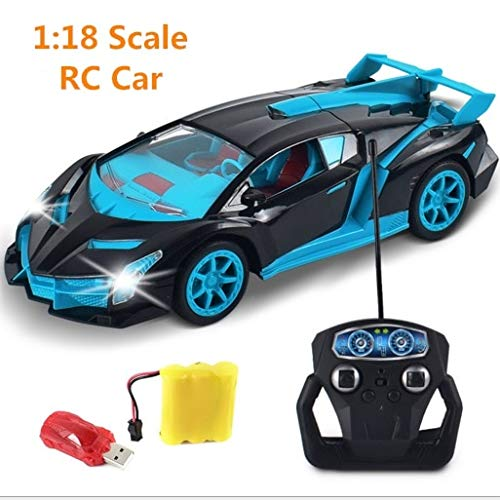 RC Cars - Drift Speed King Radio 4 Channel Remote Control Cars with Magical Light RC Sport Racing Car self Control Best Game Toys - by Tini - 1 -