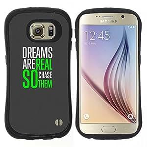 """Pulsar iFace Series Tpu silicona Carcasa Funda Case para Samsung Galaxy S6 , Sueños Realidad Impresiones Caza Verde Gris"""""""