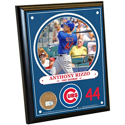 MLB Chicago Cubs Anthony Rizzo Plaque with Game Used Dirt from Wrigley Field, 8