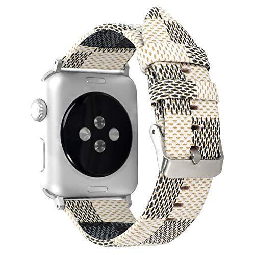 BONSTRAP Replacement for Series 4 iWatch Strap 44mm Fashion Leather Watch Bands 44 mm Replacement for Apple Watch Band Women