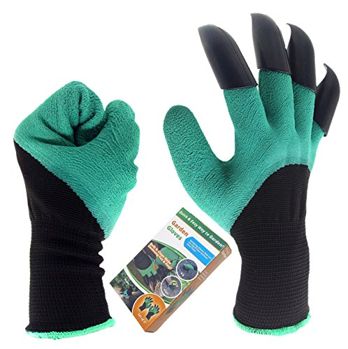 Garden Genie Gloves, Inf-way Right Hand Claws Gardening Gloves, Quick & Easy to Dig & Plant, Safe for Rose Pruning - As Seen On TV (Right Hand Claw 1 pair)