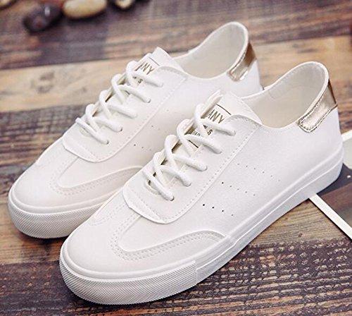 Vita Basse Bianco Donna Sneakers A Aisun Bassa 2 Skateboard Con Lacci Da RO0xanqf6w