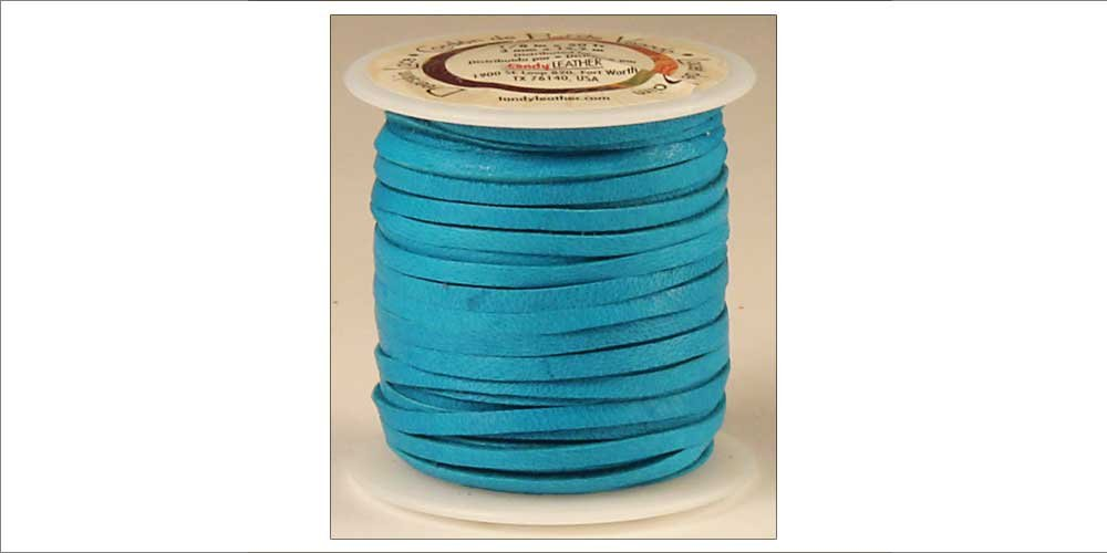Tandy Leather Deerskin Lace 3/16'' x 36 ft Turquoise 5068-09