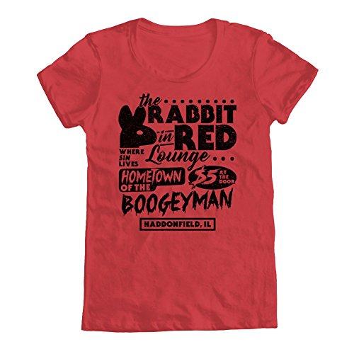 GEEK TEEZ Rabbit in Red Lounge Women's T-Shirt Red Medium
