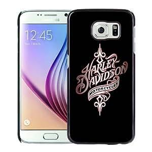 Popular Custom Designed Case For Samsung Galaxy S6 With harley davidson 1 Black Phone Case
