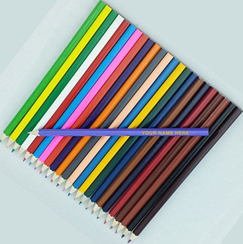24 Colored Personalized Pencils - FREE PERSONALIZATION - ezpencils supplier