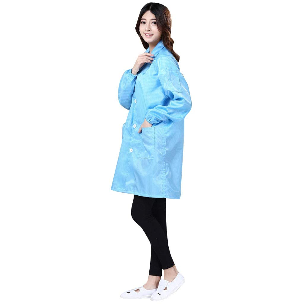 BETTERUU Disposable SMS Lab Coat with Pockets S