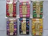 6 Set 42 PC・7 Assort Pre-Cut (8.7 ''× 6.5'') Print Rayon Crepe Japanese Chirimen kimono Quilt Fabric Patchwork