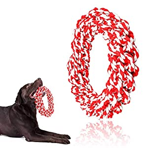 Hinrylife Rope Toys for Large Dogs, Tug Rope Toy for Aggressive Chewers, 100% Cotton Indestructible Chew Toys for Large… Click on image for further info.
