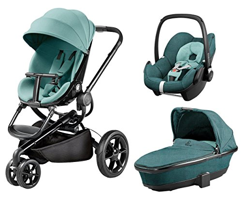Quinny Quinny Moodd Pushchair, Foldable Carrycot, Pebble Car Seat Package - Novel Nile