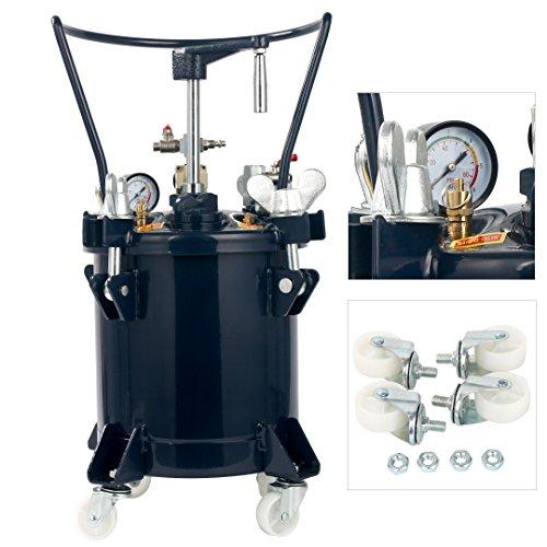 - YaeTek Commercial 2.5 Gallon (10 Liters) Spray Paint Pressure Pot Tank with Manual Mixing Agitato