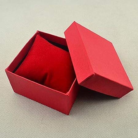 Baifeng Reloj Joyería Regalo Caliente 3 Colores Papel Cartón Almohada Almacenaje Caja Caja - Rojo: Amazon.es: Hogar