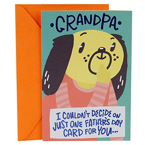 Hallmark Father's Day Greeting Card for Grandpa from Kid (Four Mini Cards Inside)