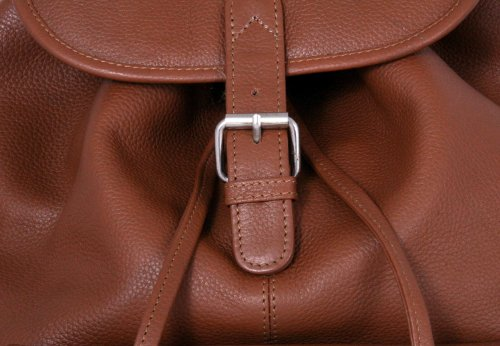 Leatherbay Leather Backpack with Single Pocket,Tan,one size by Leatherbay (Image #3)