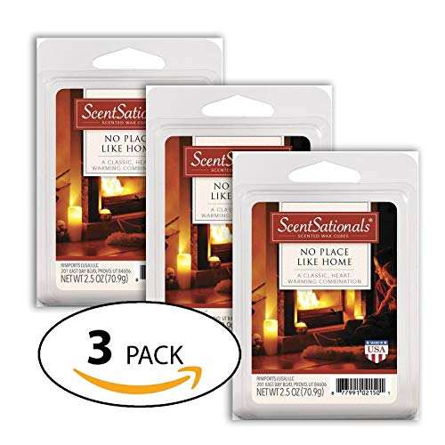 Wax Scented (No Place Like Home-Everydaycollection Wax 3 packs - ScentSationals Scented Wax Cubes for Warmers)