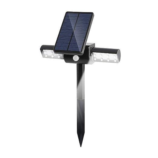YaXuan Luz Solar LED, al Aire Libre proyector Impermeable jardín ...