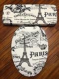 Paris Eiffel Tower French Chic Toilet Seat & Tank Lid Cover set - by Audrey Belisle