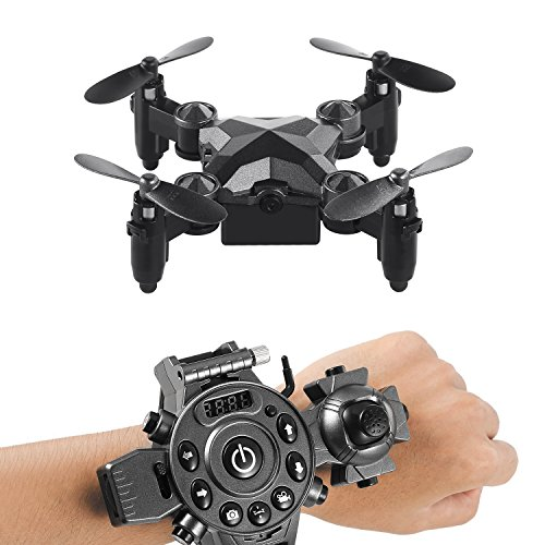 4 Mini Watch (FPVRC WiFi Mini RC Drone FPV Quadcopter Watch Style 2.4GHz Headless Remote Control 6-Axis Gyro 4 Channels Quadcopter With 0.3MP Camera, One Key Return, Portable Drone Toy for Kids)