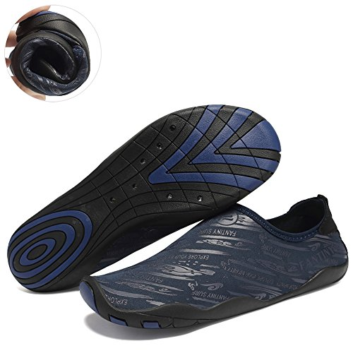 76e9628dc818 FANTINY Men and Women s Barefoot Quick-Dry Water Sports Aqua Shoes with 14  Drainage Holes
