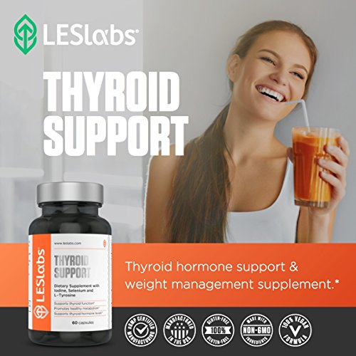 LES Labs Thyroid Support, Natural Supplement for Thyroid Health, Metabolism & Thyroid Hormone Levels, 60 Capsules by LES Labs (Image #4)