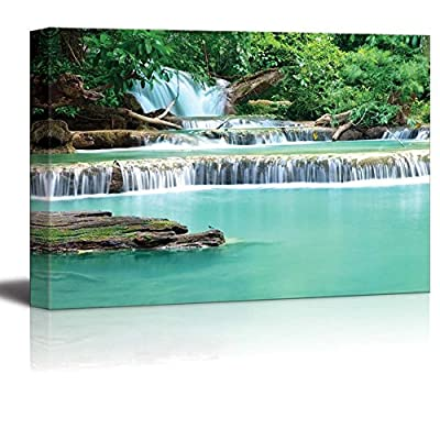 Beautiful Scenery Landscape Water Fall of Hua Mae Kamin in Kanchanaburi Thailand Wall Decor, Original Creation, Gorgeous Artistry