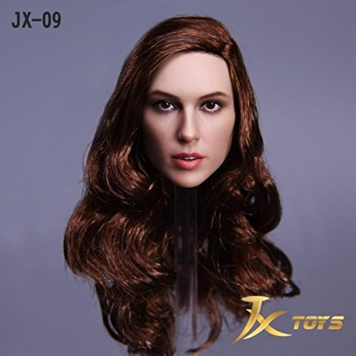 1 JX- 09 -A European female head Brown Brown longhair