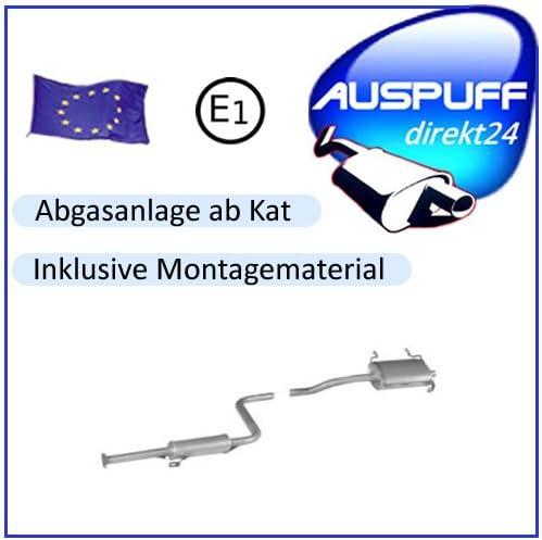 Suzuki Swift mit AM Auspuff Auspuffanlage ab KAT