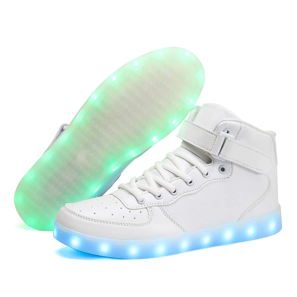 Voovix Unisex LED Shoes Light Up Shoes High Top for Women Men